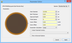 Dataview: Tree Parameter Editor for Sap Area Calculations